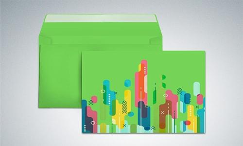 Цветные конверты с логотипом