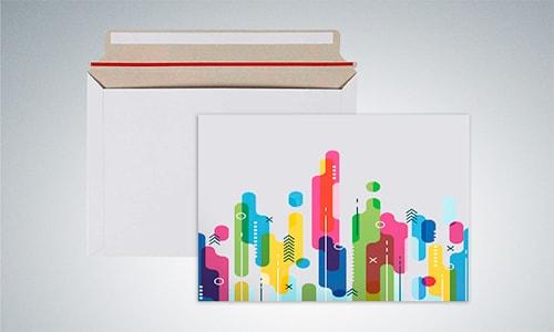 Картонные конверты с логотипом